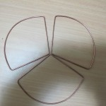 The three leafs of the cloveleaf antenna