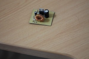 The Switch Mode PSU after soldering