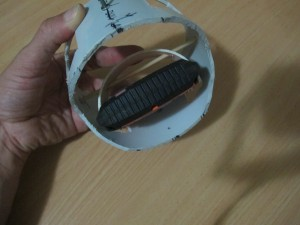 Inside view showing how Spot Messenger is attached
