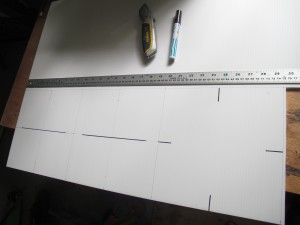 Measuring up - 3 squares - each with side of 250mm