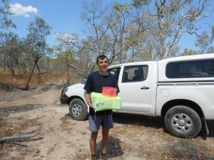 Emilien holding payload