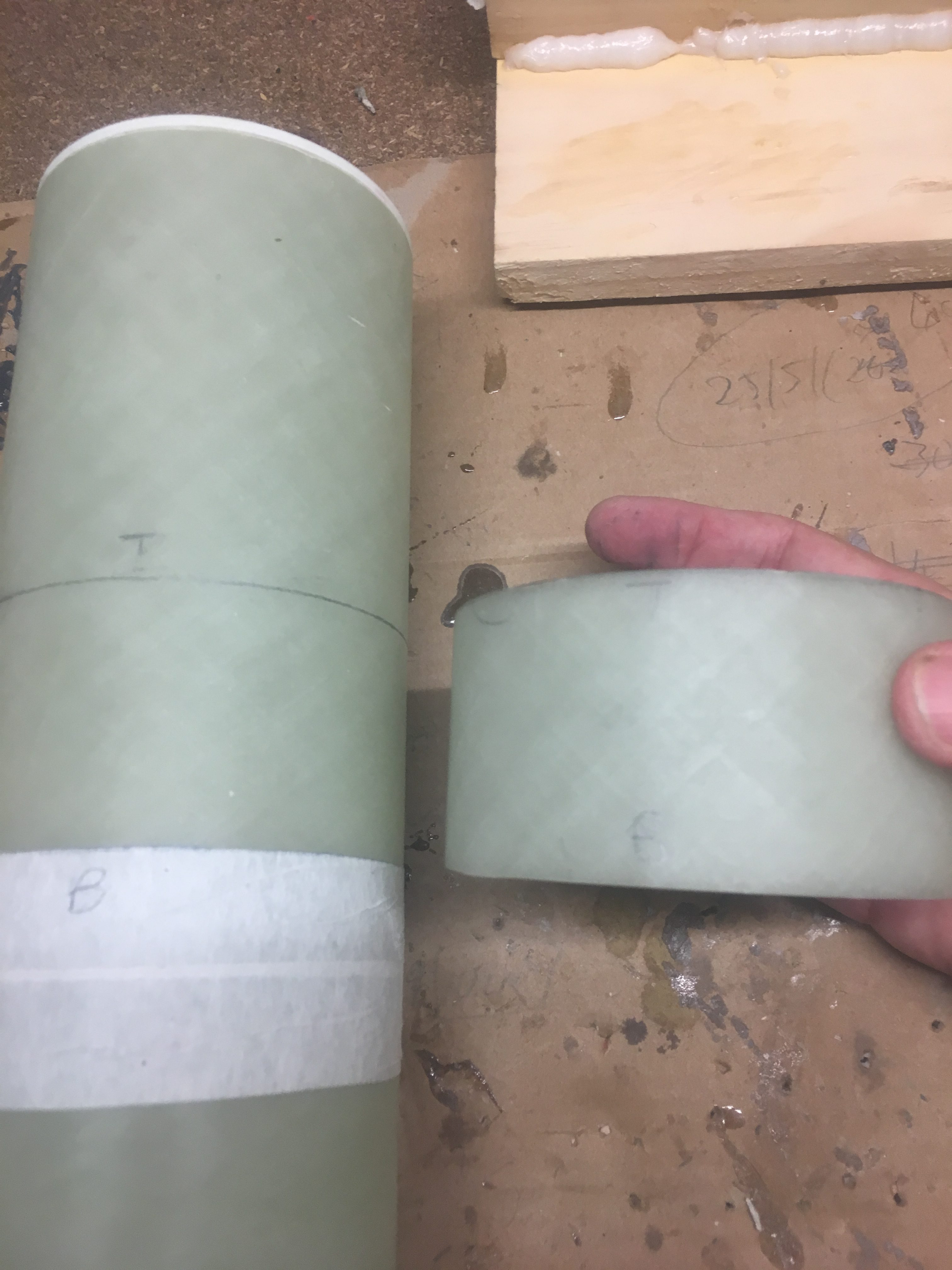 Gluing Switch Ring on Payload and Nose Cone Coupler | Rocket